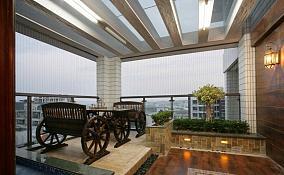 中式阳台装修图片