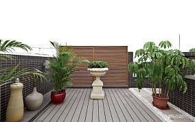 露天阳台花园效果图