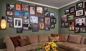 现代客厅相片墙图片