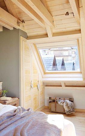 北欧风格阁楼斜顶开窗图片