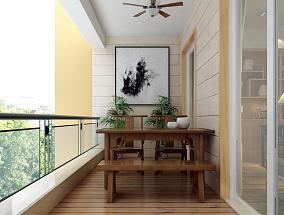 阳台实木桌椅