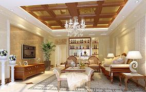 欧式客厅酒柜图片