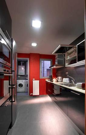 混搭工业风金属感厨房设计图