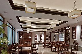 中式茶馆吊顶图片