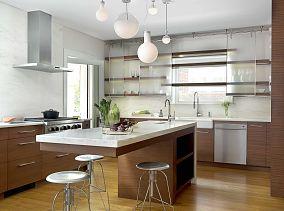 整体实木厨房效果图