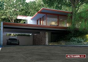 水泥-车库前庭-现代简约风格