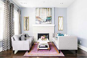 客厅窗帘整体装修效果图