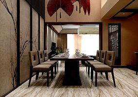 中式客餐厅隔断效果图