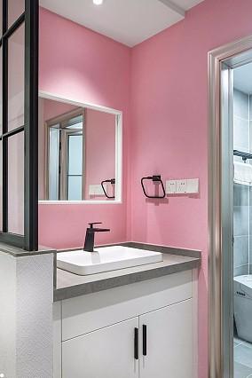 简约风格二居室,隔山灯火,如星河璀璨卫生间现代简约设计图片赏析