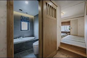 万科假日胡先生新家卫生间日式设计图片赏析