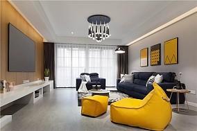 现代北欧风格三居室,拥抱初晴的暖阳客厅北欧极简设计图片赏析