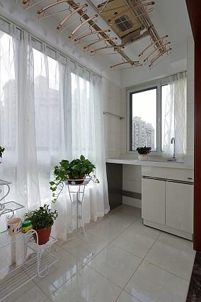 125平方新中式风格悠然雅居阳台中式现代设计图片赏析