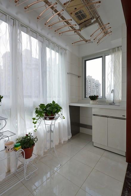 125平方新中式风格悠然雅居阳台