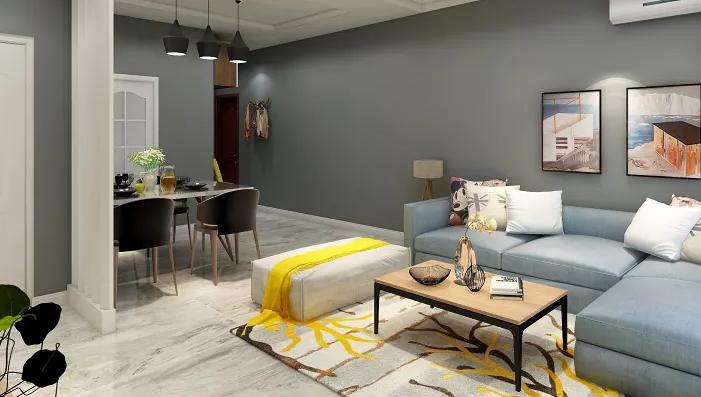 80平米現代客廳