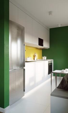 88㎡现代风,极简清爽解油腻餐厅现代简约设计图片赏析