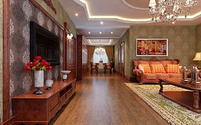 世茂滨江客厅2图美式经典设计图片赏析