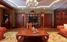 世茂滨江客厅1图美式经典设计图片赏析