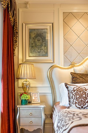 碧桂园简欧风格户型改造卧室1图现代简约设计图片赏析