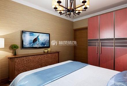 110㎡二居室,刺绣+满屏中国风卧室