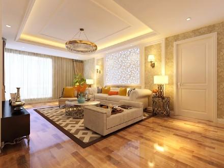 住进这样的欧式家秒变公主129平豪装客厅