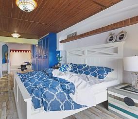 63㎡地中海|拥抱希腊的午后静谧卧室1图地中海设计图片赏析