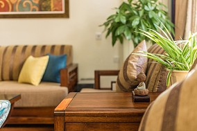 红韵客厅中式现代设计图片赏析
