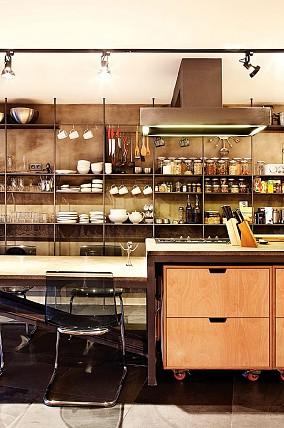 90平两居简约而不简单的复式跃层餐厅北欧极简设计图片赏析
