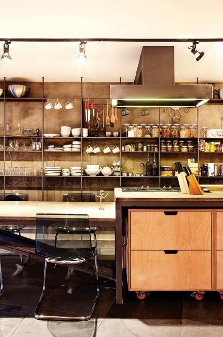 90平两居简约而不简单的复式跃层餐厅