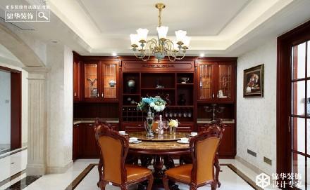 185㎡三居室,美式的家,温暖如春厨房1图