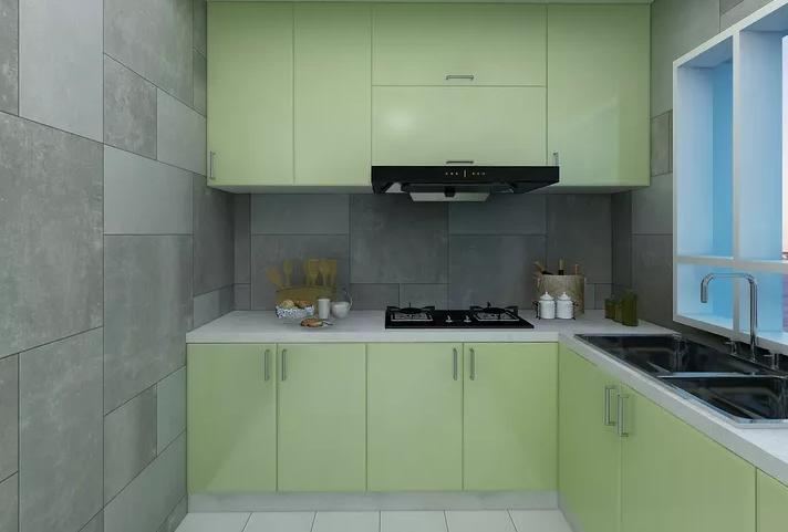 北欧风格餐厅橱柜北欧极简厨房设计图片赏析