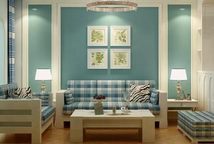 地中海混搭美式风格客厅