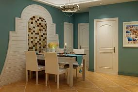 地中海混搭美式风格厨房地中海设计图片赏析