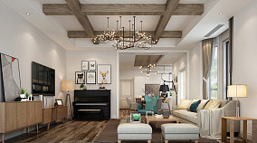 复古简欧客厅装修欣赏