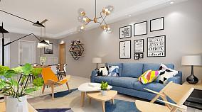 斜顶阁楼客厅沙发背景墙