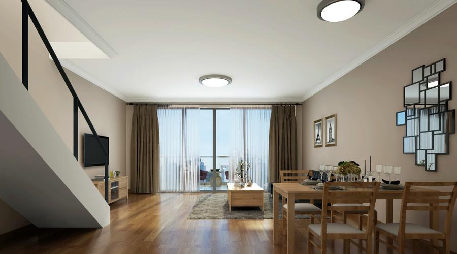 热门76平米欧式小户型客厅装修实景图片欣赏61-80m²一居欧式豪华家装装修案例效果图