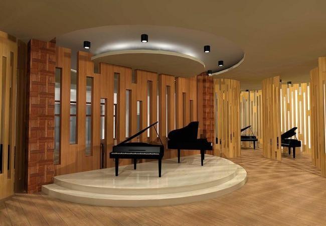 钢琴展示店