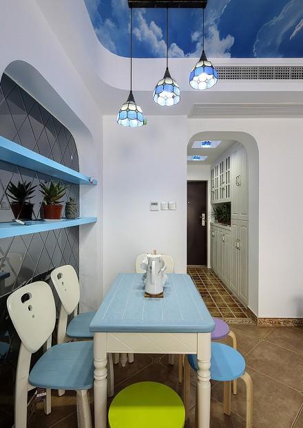 小户型巧设计让家充满地中海的气息厨房2图