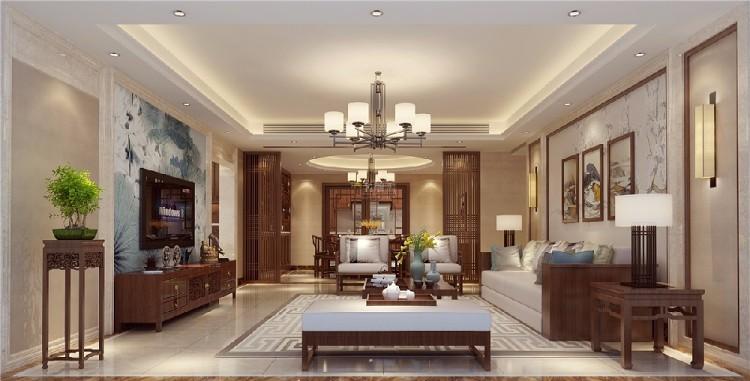 广州锦东花园-新中式风格-四居室