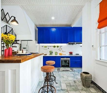 初夏海风地中海别墅设计厨房