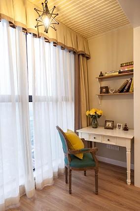 简美风格3居室,许来日方长阳台美式经典设计图片赏析