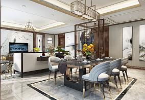 王总雅居设计厨房中式现代设计图片赏析