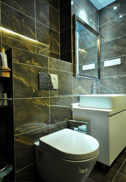 115㎡新中式,轻松又端庄的设计感卫生间