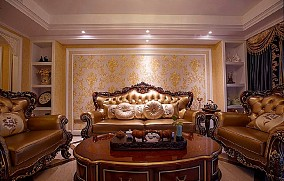 奢华法式客厅1图欧式豪华设计图片赏析
