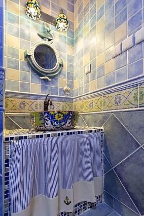地中海风4居室蓝天白云碧海银沙卫生间2图地中海设计图片赏析