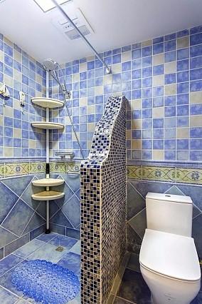 地中海风4居室蓝天白云碧海银沙卫生间1图地中海设计图片赏析