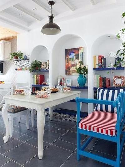 地中海风复式,邂逅蔚蓝厨房2图