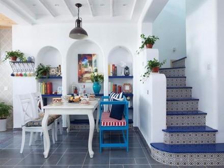 地中海风复式,邂逅蔚蓝厨房1图