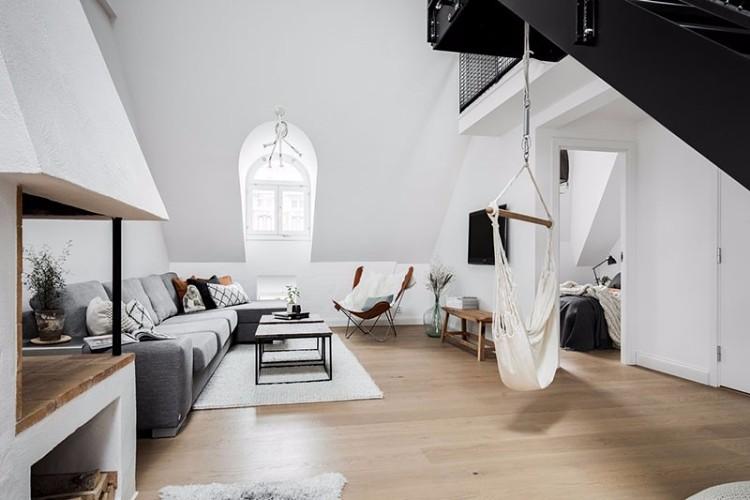 黑白頂樓公寓