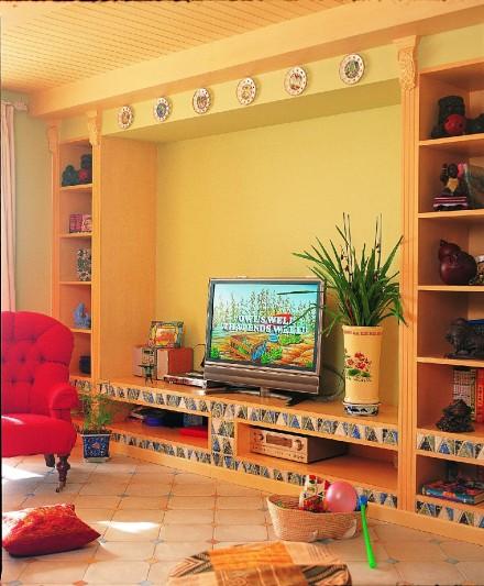100㎡色彩斑斓家居,温馨优雅!客厅