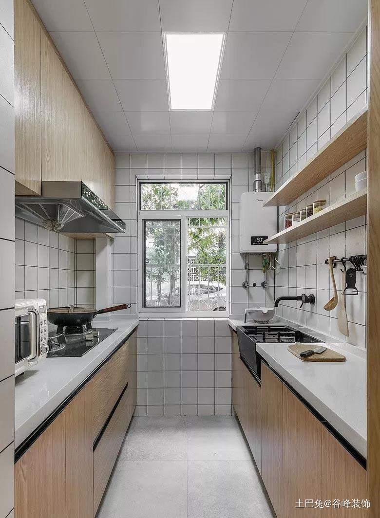 滨湖区水乡苑80平北欧风餐厅橱柜潮流混搭厨房设计图片赏析